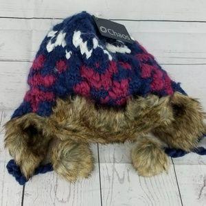 Chaos women girls Peruvian Knit Faux Fur Trapper